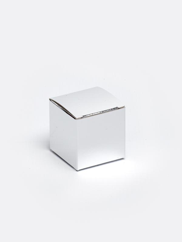 zilveren kubus in karton om zelf te vullen