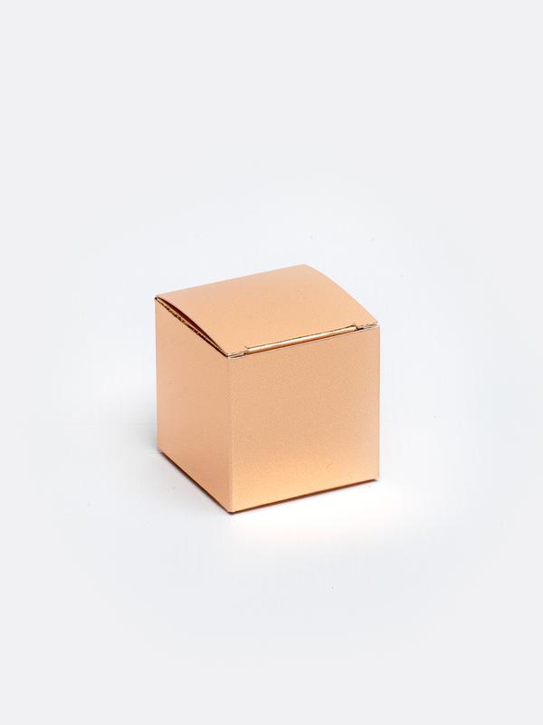 Rosé goud kubus in karton om zelf te vullen