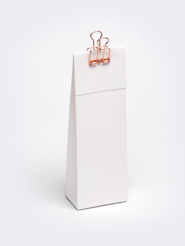 Wit hoog tasje met klep om zelf te vullen