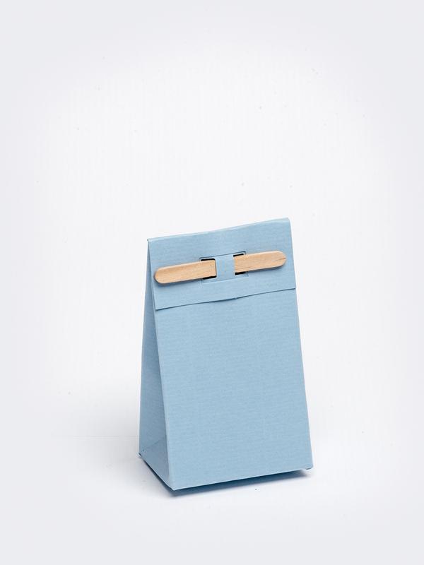 Licht blauw tasje met stokje om zelf te vullen