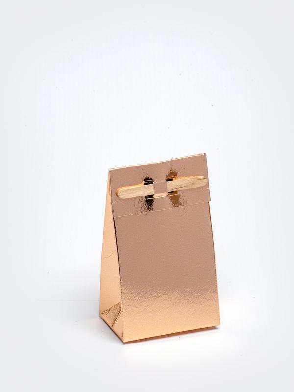 Rosé goud tasje met stokje om zelf te vullen