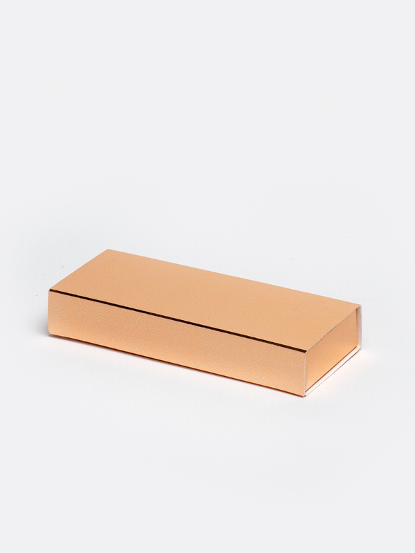 Rosé gouden lang inschuifdoosje karton om zelf te vullen