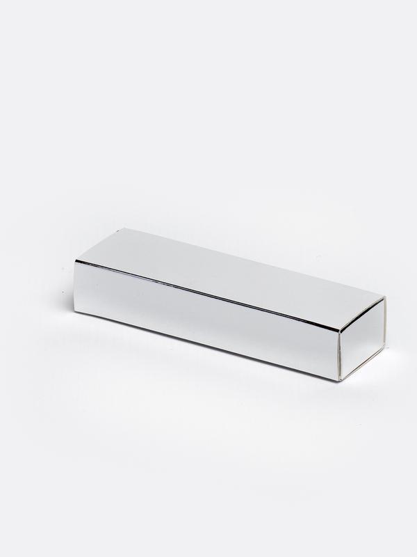 Zilver smal inschuifdoosje karton om zelf te vullen