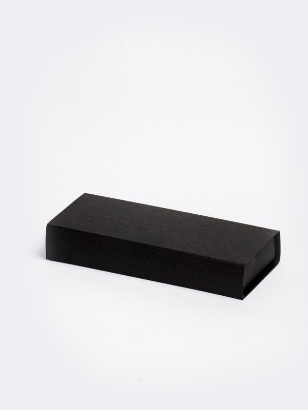 Zwart lang inschuifdoosje karton om zelf te vullen