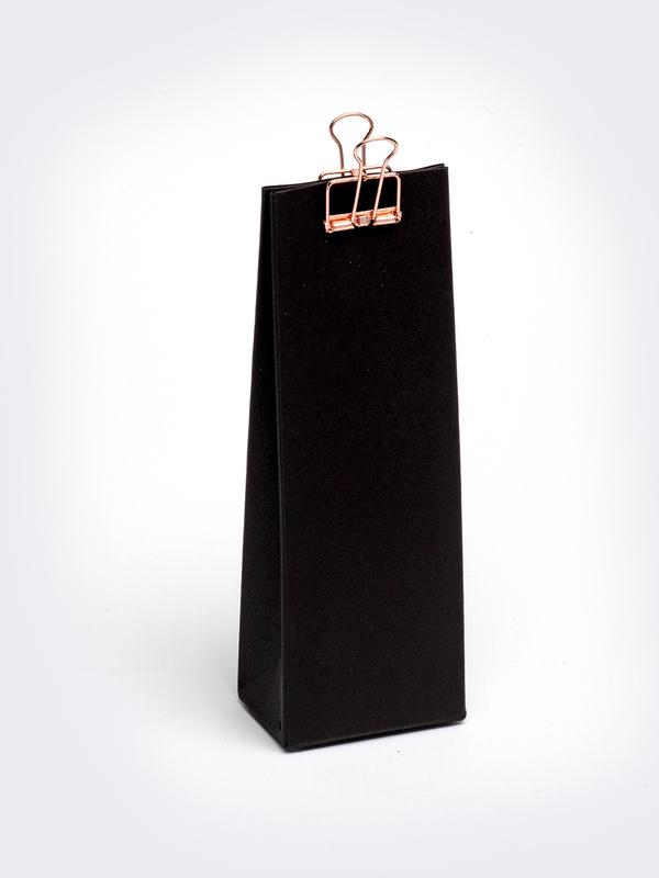 Zwart hoog tasje in karton om zelf te vullen
