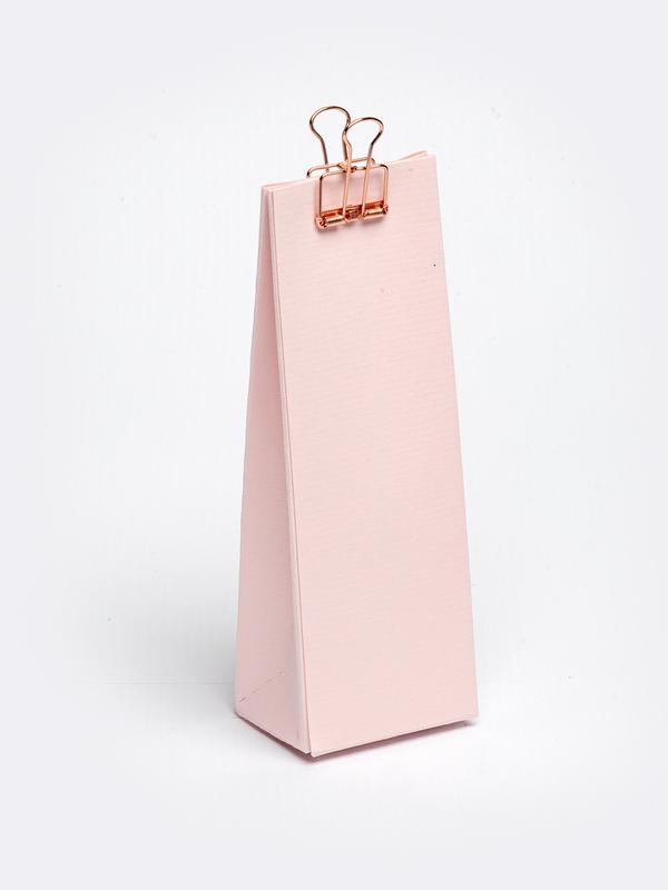 Roos hoog tasje in karton om zelf te vullen