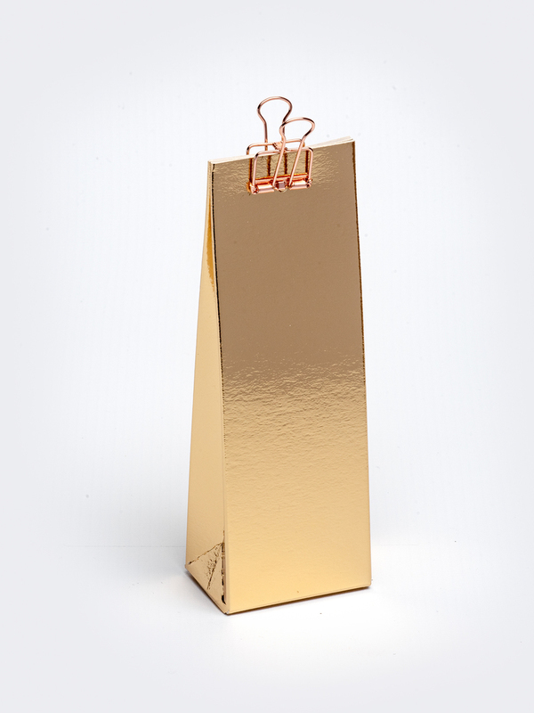 Gouden hoog tasje in karton om zelf te vullen