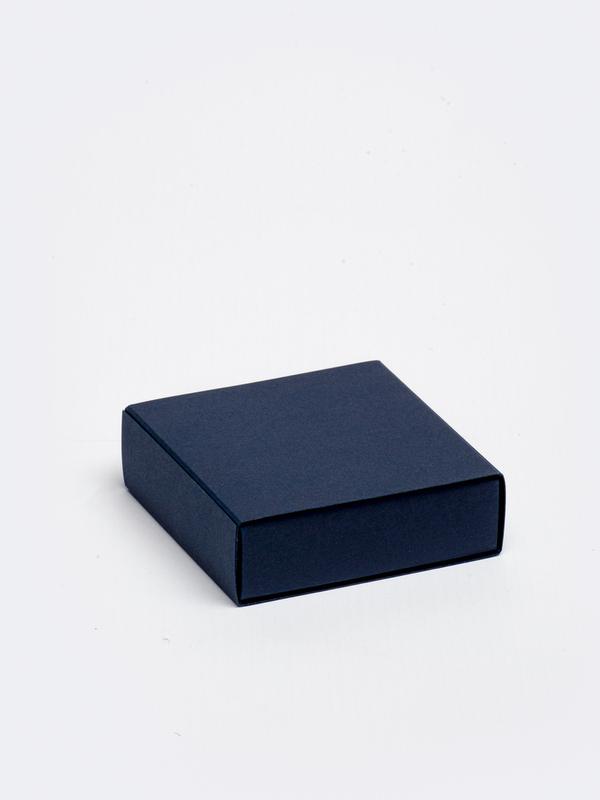 Marine blauwe vierkante doos in karton om zelf te vullen