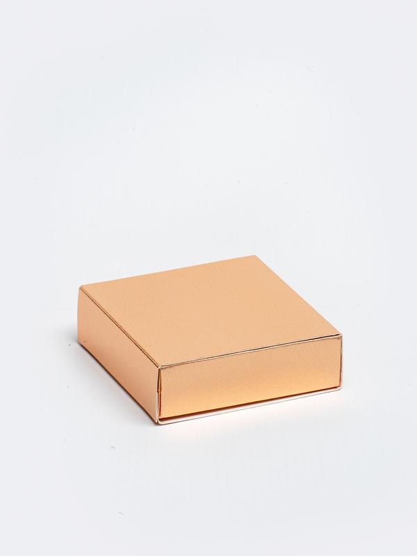 Rosé gouden vierkante doos in karton om zelf te vullen