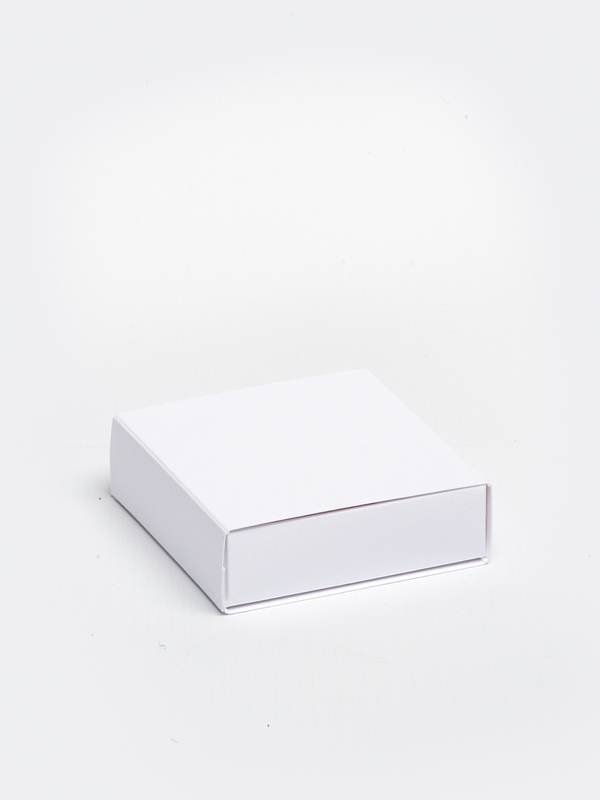 Witte vierkante doos in karton om zelf te vullen